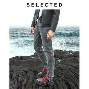 Image 3 - Geselecteerd Mannen Slim Fit Stretch Katoen Grijs Jeans Lab
