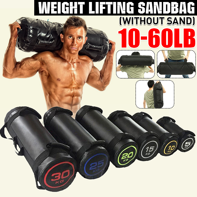 Power Bulgarian Sandbag  Weight Lifting Leather Bags Fitness Workout Exercises