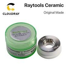 Cloudray boquilla de cerámica para láser Raytools, hecha de forma Original, diámetro de 32mm, soporte para boquilla de cabezal de corte láser de fibra
