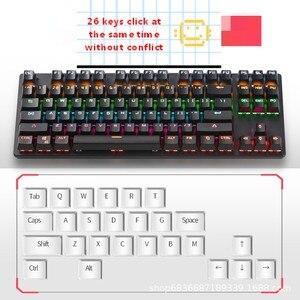 Image 2 - Gaming Mechanical Keyboard Game Anti ghosting  RGB Mix Backlit Blue Switch 87key teclado mecanico For Game Laptop PC