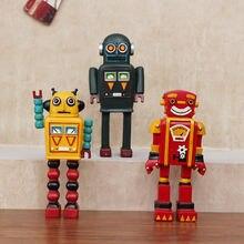 Ретро модель робота ручной работы из смолы Мультяшные украшения