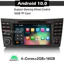 5180 Android 10 Autoradio pour DVD Mercedes Benz CLS/G/E classe W211 W219 DAB + TPMS Autoradio GPS Satnav tête unité