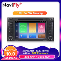 Android 10 Car DVD GPS 32G ROM For VW Touareg Multivan (2002 2010) with wifi 4G Bluetooth Radio RDS DSP USB Steering wheel