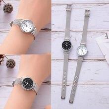 Femmes argent petite montre en acier inoxydable bracelet montre femme Simple affaires montres-bracelets livraison directe