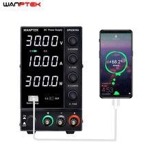 Wanptek DPS3010U 30V 10A USB DC laboratorio de fuente de alimentación ajustable 60V 5A estabilizador y regulador de voltaje de alimentación de conmutación