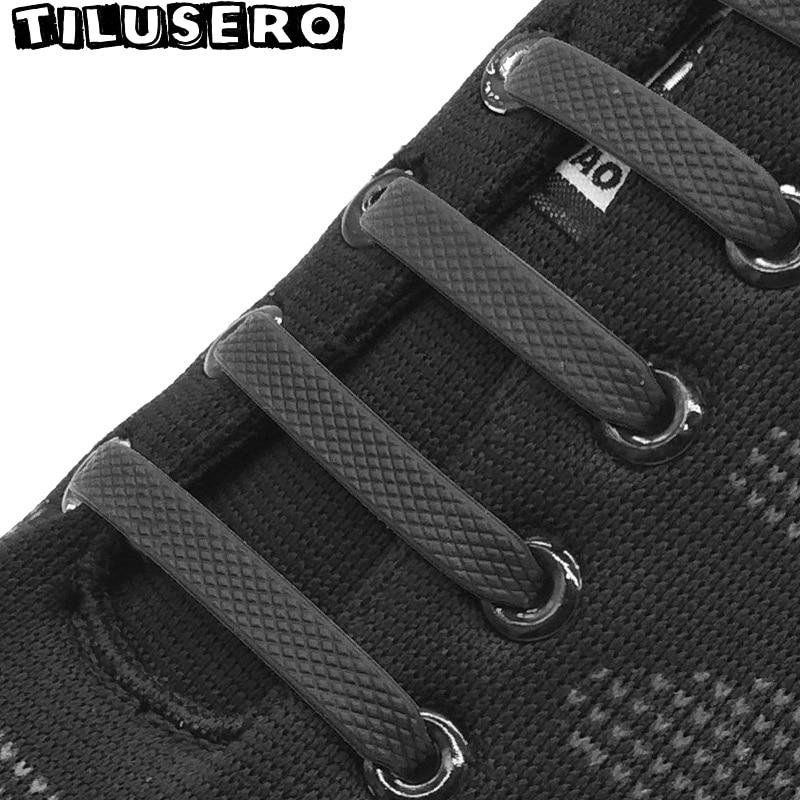 16pcs/lot Silicone Elastic Shoelaces No Tie Shoelace Lacing Kids Adult Sneakers Quick Shoe Lace