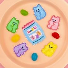 6PCS/LOT Lovely Candy Bear Theme Cloth Sticker цена 2017