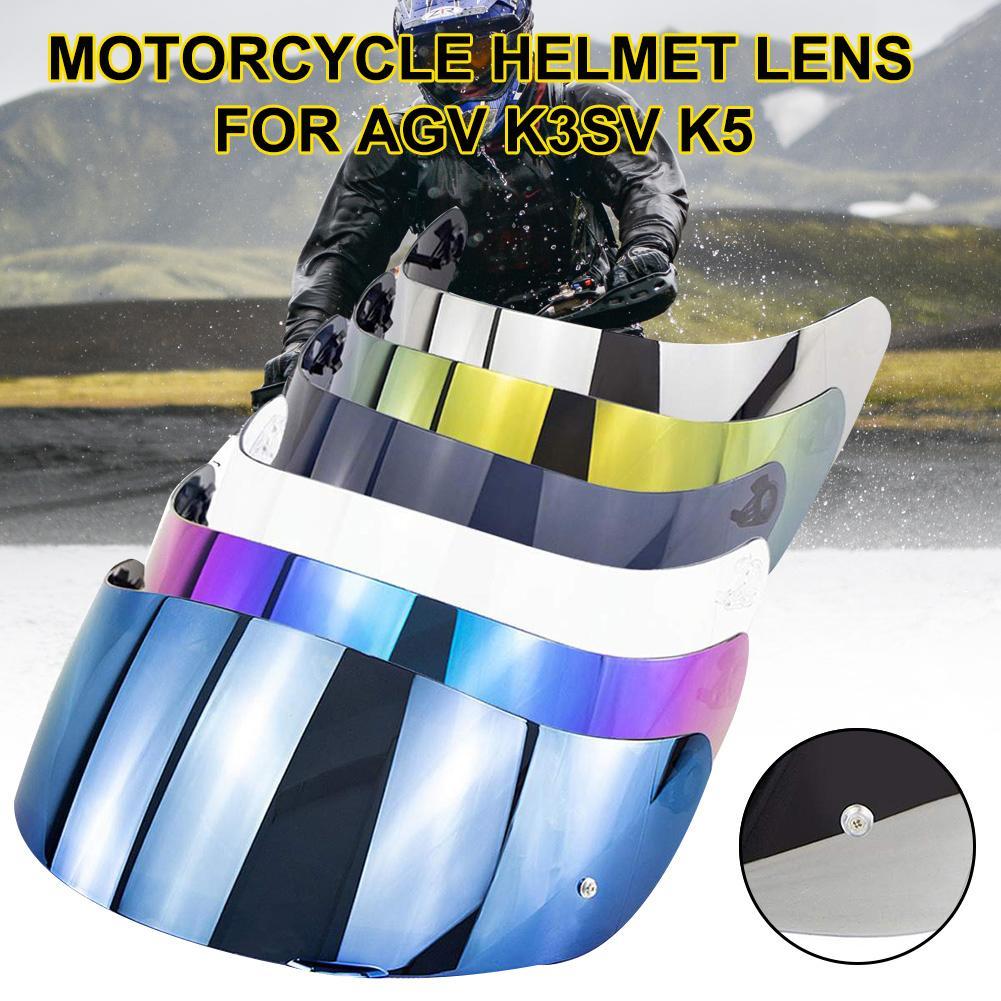 Motorcycle Full Face Helmet Goggles Lens Visor With Pin Lock For AGV K1 K3SV K5