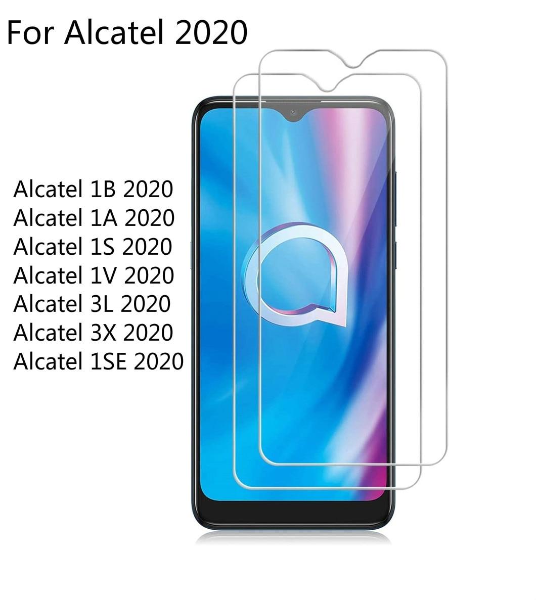 2 шт. закаленное стекло для Alcatel Работает с любым оператором, 1B 1A 1S 1V 3L 1SE 3X 2020 Экран протектор 2.5D с уровнем твердости 9H для Alcatel Работает с любым оператором, 2020 защитная пленка, стекло|Защитные стёкла и плёнки|   | АлиЭкспресс