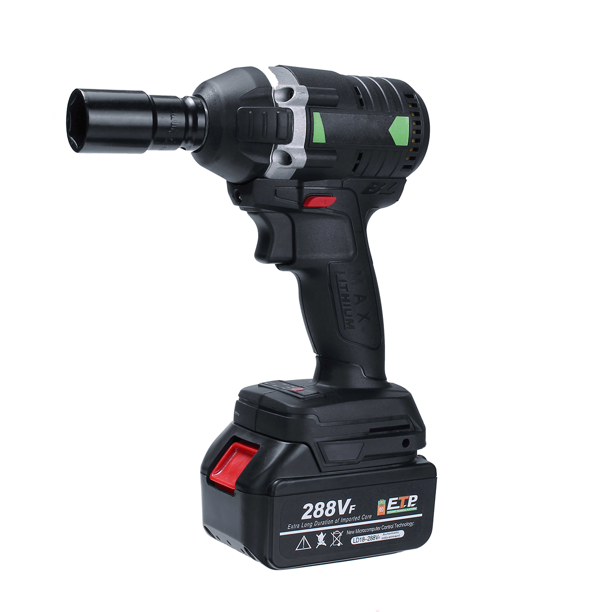 630N.m 288VF Cordless Electric Impact Wrench Electric Wrench Brush With 1x Li-ion Battery Power Tools