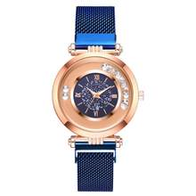 Fashion Starry Sky Women Quartz Watch Mesh With Magnetic Buckle Ladies Watch Women Watches Dress Clock Party Decoration Gifts(China)