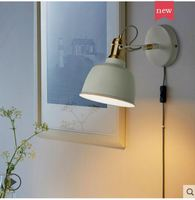 Lâmpada de cabeceira pequena lâmpada de parede quarto lâmpada de leitura nordic simples luz luxo criativo interruptor de parede