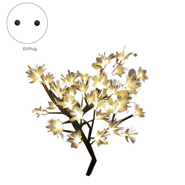 Promotion! LED saule branche lampe à piles Simulation orchidée branche lumineuse Vase remplissage fleur branche fée guirlande lumineuse (E 1