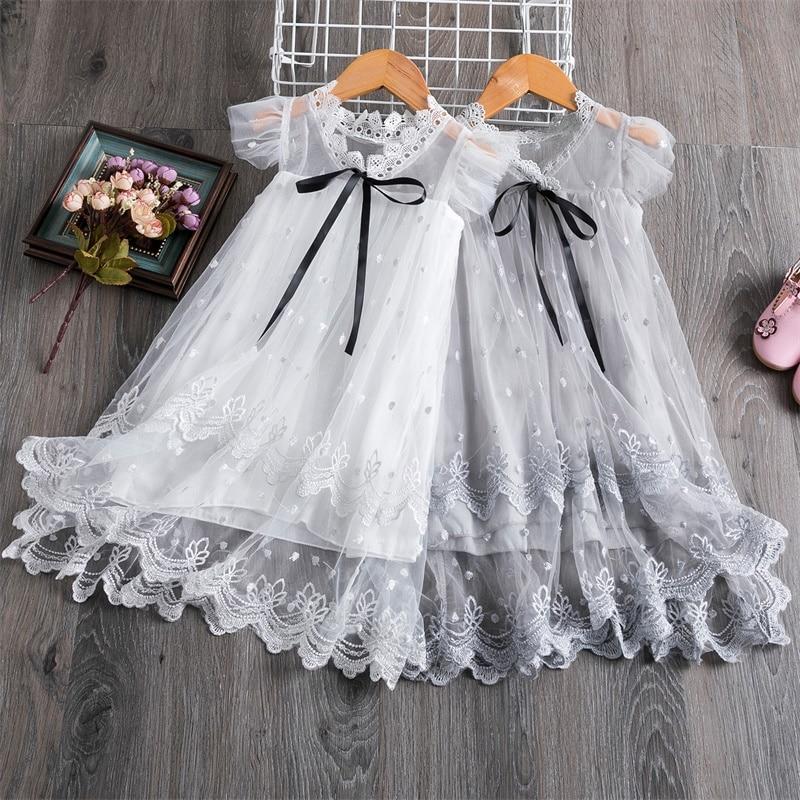 Floral Girls Clothing Children Baby Dresses For Girl Wedding Party Dress Princess Ceremony Prom Communion Gown Vestido Infantil
