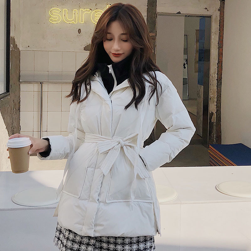 2019 Long Duck   Down   Parka Warm Jacket For Women Winter Large Size   Down     Coats   Splicing Fake Two-piece Hooded   Coats   Outerwear