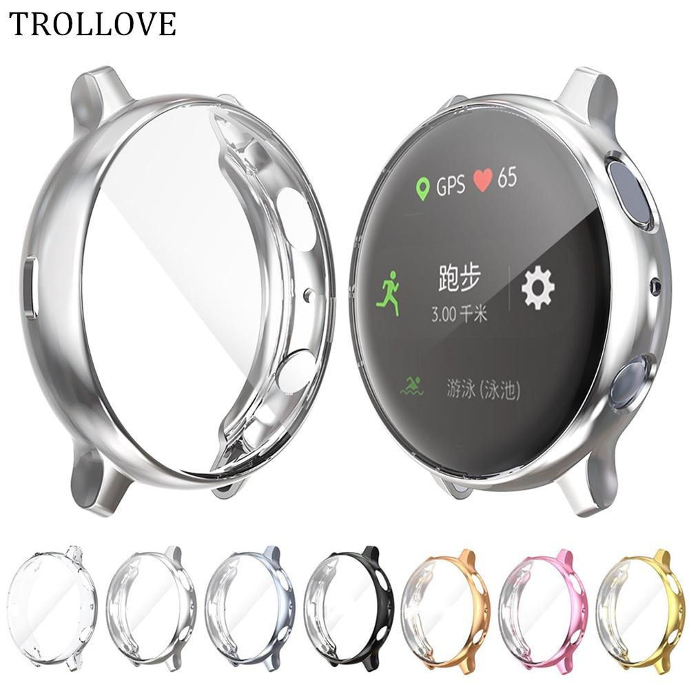 Защитный чехол для экрана для Samsung Galaxy Watch Active 2 40 мм 44 мм, чехол с полной защитой, мягкий чехол из ТПУ для Galaxy active2 40/44