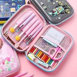 유니콘 kawaii 연필 케이스 연필 상자 귀여운 대용량 다기능 연필 케이스 펜 케이스 학교 용품 소년 소녀