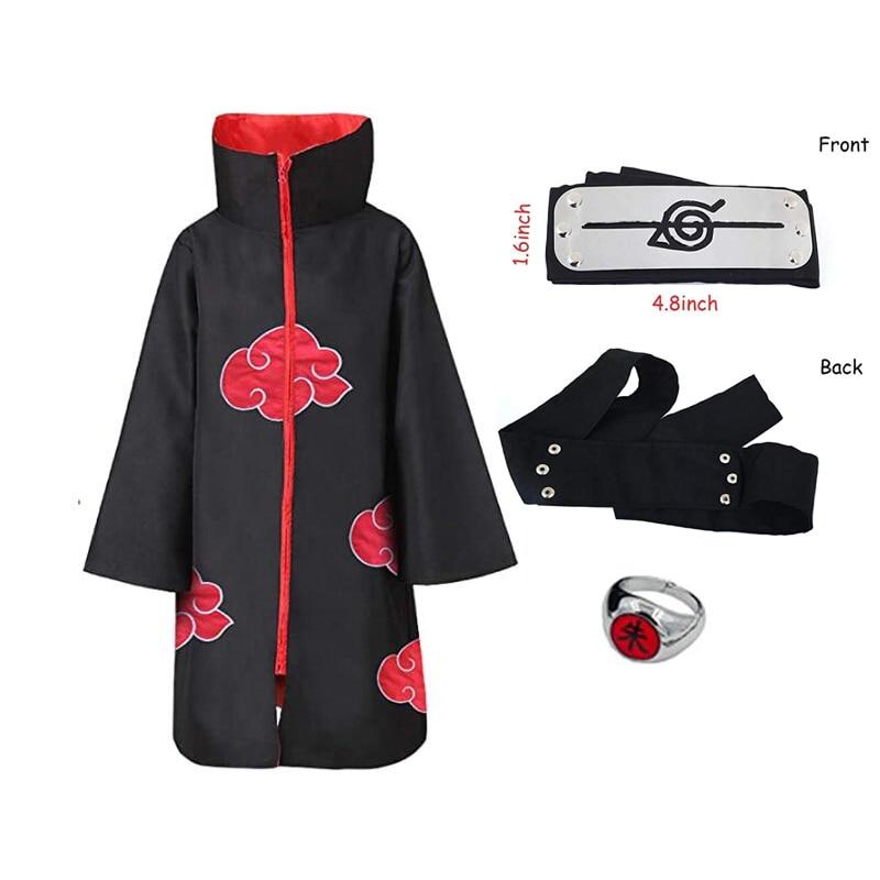 Аниме Косплэй костюм Итати по аниме костюм плащ повязка на голову, набор колец Косплэй халат накидка кунаи детская Косплэй