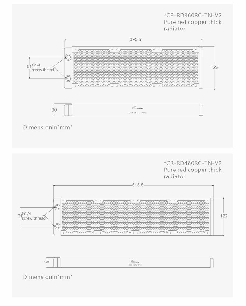 radiador refrigerador de água linha para 120m