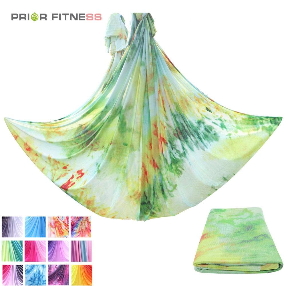 Permalink to 5 meters aerial yoga hammock fabric 2021 new medium elastic gradient color yoga hammock home yoga gym fitness