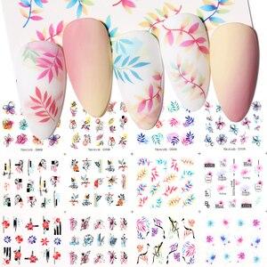 12 дизайнов в весеннем геометрической формы в виде цветов и листьев Набор наклеек для ногтей уход за кожей лица изображение бабочка фрукты наклейки ползунки украшение для маникюра|Стикеры и наклейки|   | АлиЭкспресс