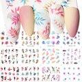 Harunouta 12 видов стилей/лист, переводятся с помощью воды наклейки лист Цветы ползунки линии, водные переводные наклейки леди уход за кожей лица ...