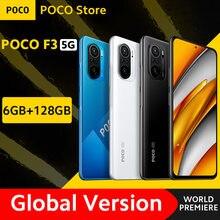 [World premiere em estoque] versão global poco f3 5g smartphone snapdragon 870 octa núcleo 6gb 128gb 6.67