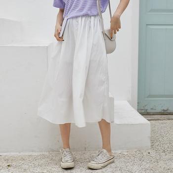 2020control The Crushed Degree Of Tightness Waist Pleated Skirt Long Fund Half-body Will Pendulum Favourite Fashion Chiffon 4