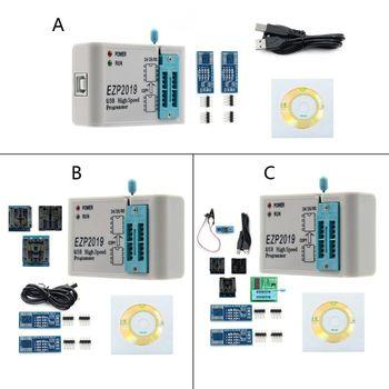 EZP2019 High Speed USB SPI Programmer Fast Read Support 32M Flash Memory 24 25 93 EEPROM Flash Bios Chips hailangniao new tl866a tl866 high performance willem universal programmer support icsp support flash eeprom sop plcc tsop