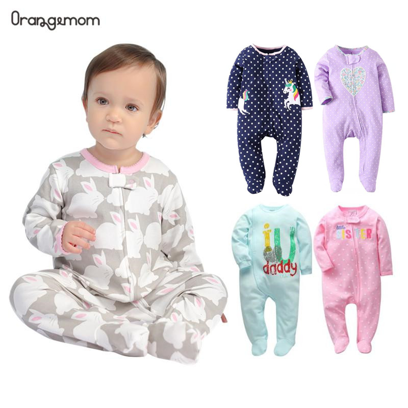Brand Orangemom Official Store Baby Romper Cartoon Jumpsuits Cotton Newborn Baby Girl Clothes  Pajamas For Babies 0-24M