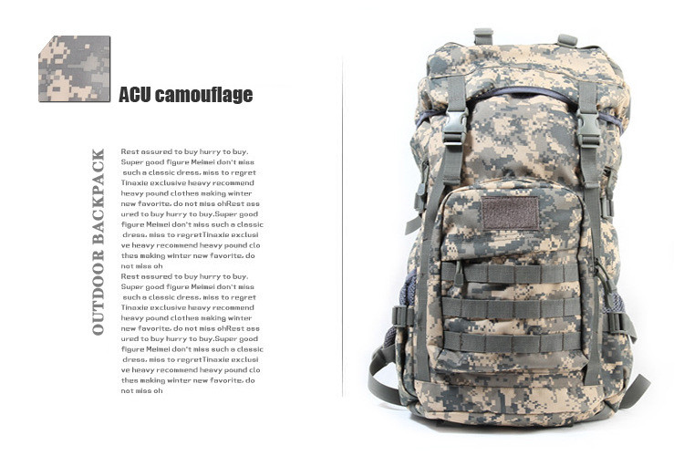 Camourflage Trekking Sac à Dos Randonnée Voyage 50 L