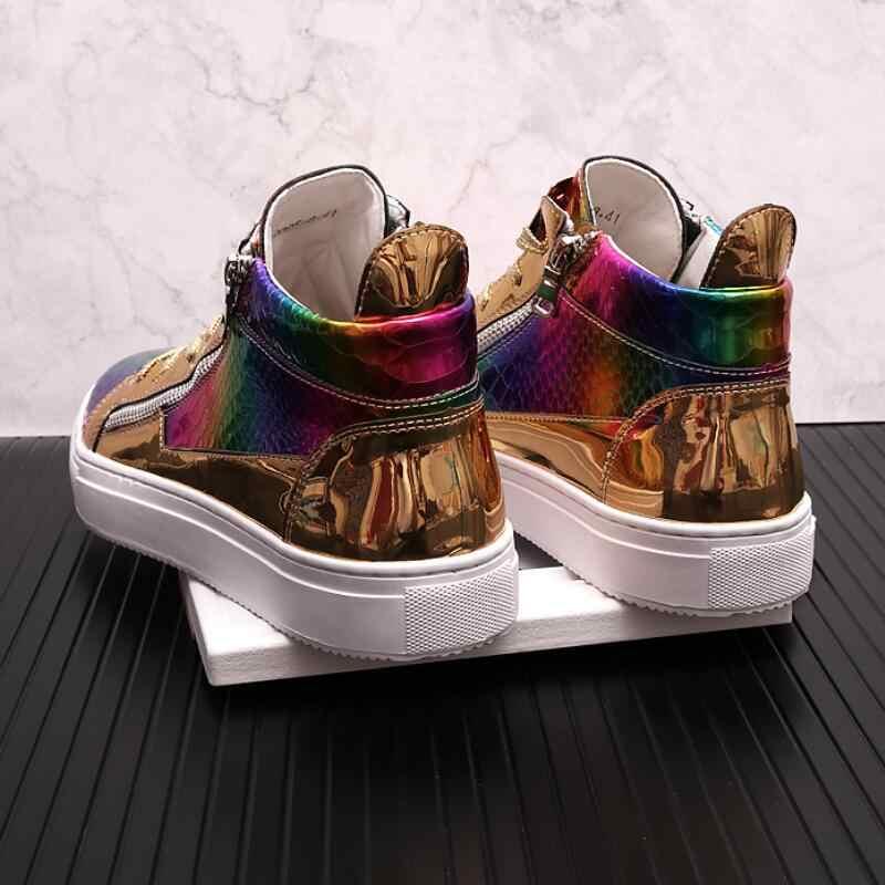 Italian Brand gold shiny Designer Shoes