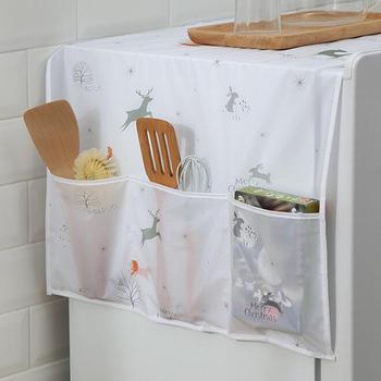 1 sztuk gospodarstwa domowego lodówka lodówka kurz pokrywa ręcznik z etui do przechowywania torby pralka wodoodporny Organizer torby wiszące tanie i dobre opinie CN (pochodzenie) 100 COTTON Dust Cover PRINTED Europa White China piece