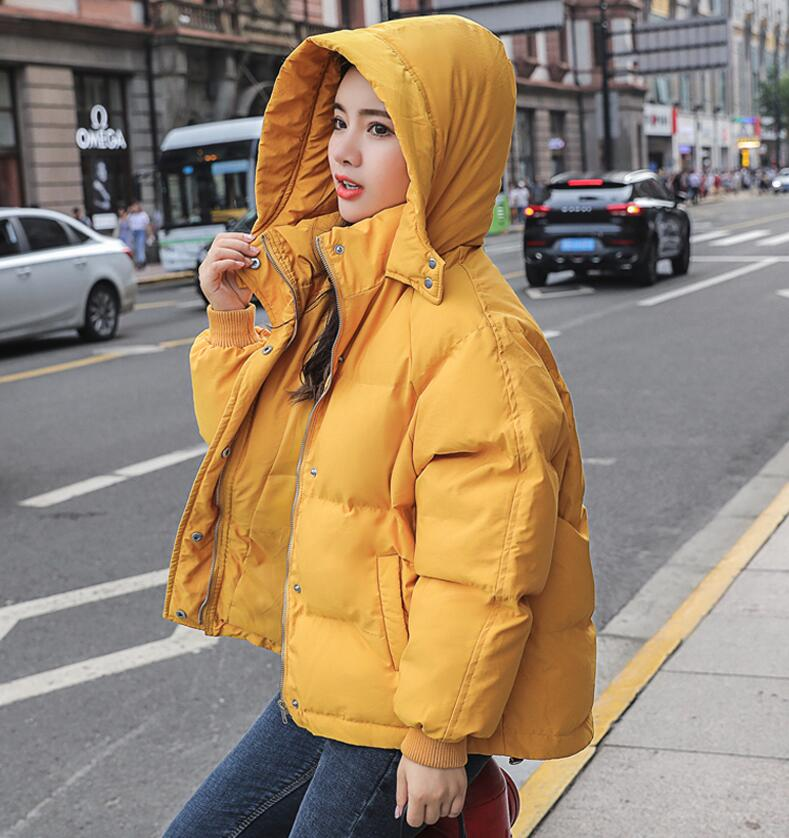 Women Warm Coats Hooded Jacket Winter New Loose Bread Oversize Tops Ladies Short Windproof Jacket Parkas Thick Outerwear Female