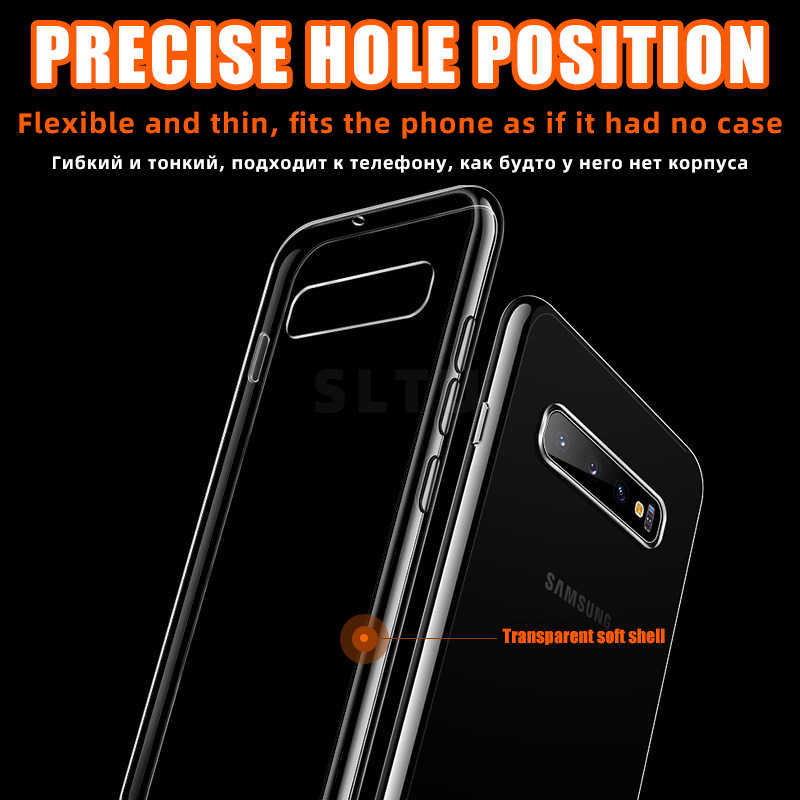 Siêu Mỏng Ốp Lưng Trong Suốt Dành Cho Samsung Galaxy Samsung Galaxy S8 S9 S10 Plus S10E Lite Note 8 9 Note 10 Pro A51 a71 A10 A70 Mềm TPU Cover
