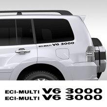 2PCS ECI-multi V6 3000 Auto Ganzen Körper Trim Aufkleber Für Mitsubishi Pajero Shogun Montero Seite MK2 V20 auto Körper Decor Zubehör