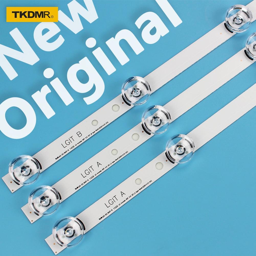 TKDMR 3 Pcs TV LED Backlight Strip For LG Innotek Drt 3.0 32 32LB550B-ZA 32LB5600-UH 32LB561B-SC 6916l-1975A LC320DUE LV320DUE