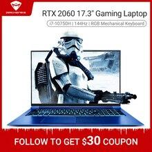 Machenike F117-FPD i7 RTX2060 Gaming laptop 2020 i7 10750H RTX2060 6G 17.3 inches 144Hz 72%NTSC lapt