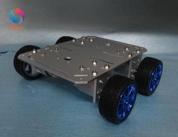 Smart Car With Aluminum Alloy Chassis 4 Drive 65mm Wheels Robotic Arm Interface Holes For Modification DIY RC Toy