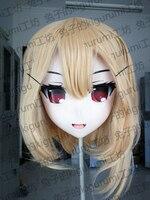 (Rabbit 73) Crossdressing Pretty Girl BJD Doll Mask the Embodiment of Scarlet Devil Cartoon Japan Anime Realistic Silicone Rumia Cosplay Kigurumi Crossdresser Mask