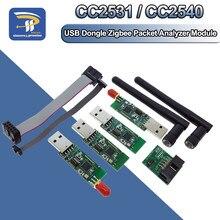 Sem fio zigbee cc2531 cc2540 sniffer nua placa pacote protocolo analisador módulo interface de programação usb dongle captura pacote