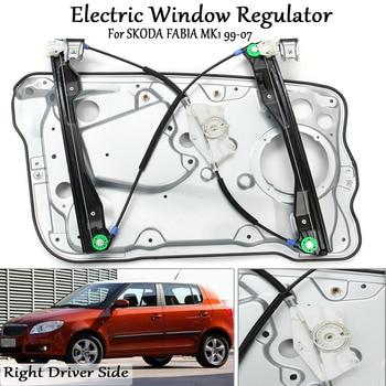 Frente esquerda/direita motorista regulador de janela elétrica com painel para skoda fabia mk1 1999-2007 6y1837461 6y1837462