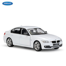 WELLY 1:24 BMW 3 Series  sports car simulation alloy car model crafts decoration collection toy tools gift цена