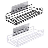 2PCS Kitchen Bathroom Accessories 3KG Organizer Basket Corner Bathroom Shelf Hair Dryer Holder Storage Rack Shower Wall Shelf
