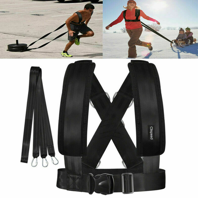 Fitness Equipment Shoulder Harness Gym Pull Sled Drag Speed Weight Training Workout Strap Weight Muscle Sport Accessories