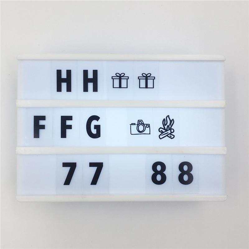 Diskon Penjualan A6 Led Cinema Lightbox Tanda-tanda DIY 90 PCS - Pencahayaan dalam ruangan - Foto 2
