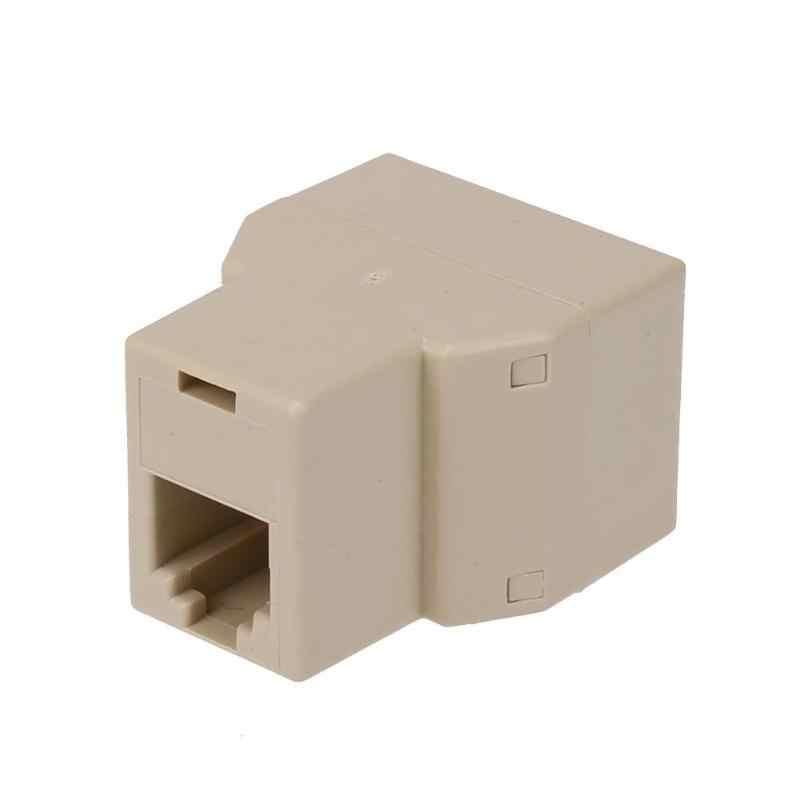 1 إلى 2 RJ11 الإناث سلك الهاتف الخائن تحويل محول سلك موصل المهنية الكهربائية الملحقات أداة