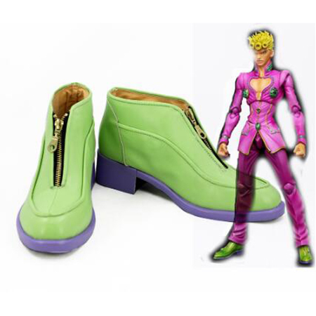 JoJo's Bizarre Adventure 5 Giorno Giovann Cosplay Boots Shoes Men Shoes Costume Customized Accessories Halloween Party Shoes