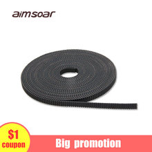 2M GT2 Timing Belt Rubber 2GT Wide 6mm Synchronous Belts for 3D Printer RepRap Mendel 2GT open Belts Pulley Accessories