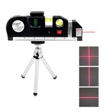 Novos níveis de laser 4 em 1 cruz linha vertical horizontal lasers régua ajustada 2 linhas exatas com tripé instrumentos ópticos